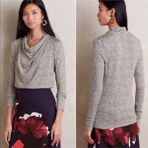 Anthropologie Deletta Shimmer Cowl Neck Sweater